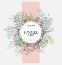 exotic leaf round banner trendy design vector image