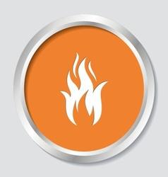 Fire warning symbol vector