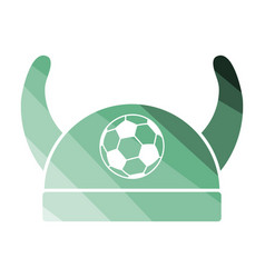 football fans horned hat icon vector image