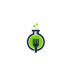 fork science lab logo icon design vector image
