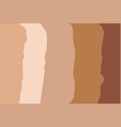 foundation cream different tone vector image