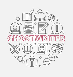 ghostwriter round in line vector image