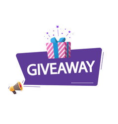 Giveaway marketing advertising poster give vector