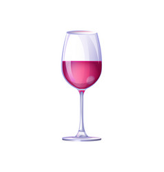 glass filled with drink on vector image