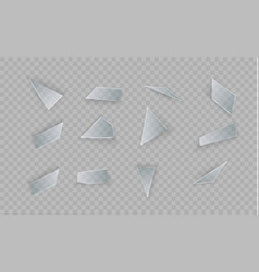 glass is broken on a transparent background vector image