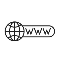 globe and earth planet web icons in line style vector image