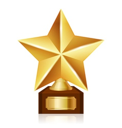 gold star award vector image