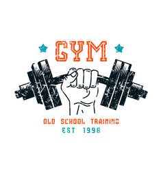 gym club emblem in retro style vector image