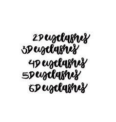 hand drawn lettering quote - eyelashes vector image