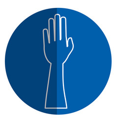 Hand human raised icon vector