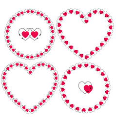 heart with arrow frames clipart vector image