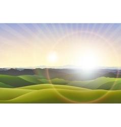 Horizontal landscape background vector