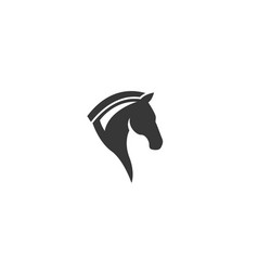 horse head chess symbol for logo design vector image