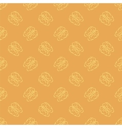 Human Brain Icon Seamless Pattern vector image