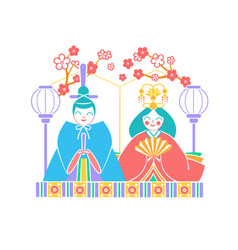 icon hinamatsuri japan vector image