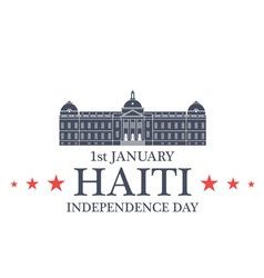 Independence Day Haiti vector