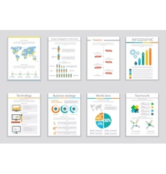 Infographic business brochures banners vector image