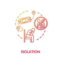 Isolation red concept icon vector