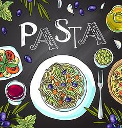 Italian pasta vector