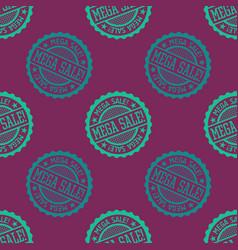 mega sale seamless pattern vector image
