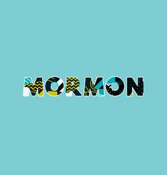 Mormon concept word art vector