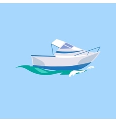 Motorboat ship on the water vector