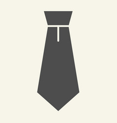 necktie solid icon tie vector image