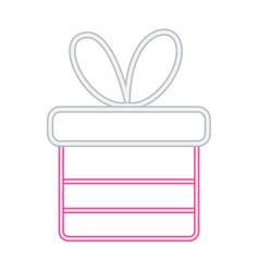 neon gift box surprise decoration vector image