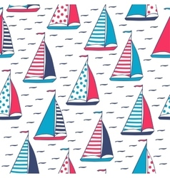 Pattern of marine sails vector
