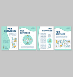 pet services brochure template vector image
