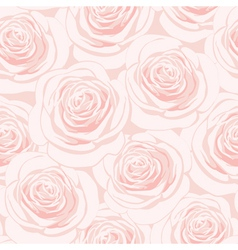 Pink rose seamless pattern vector