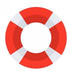 Red Lifebuoy Icon vector