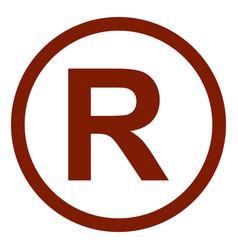registered trademark logo vector image