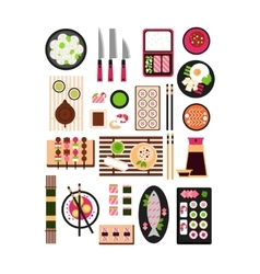 Restaurant Asian Cuisine Flat vector image