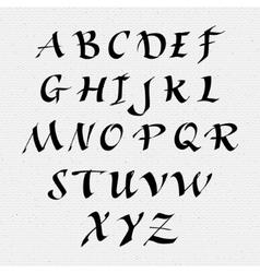 Ruling pen script lettering font handwritten vector