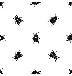 Scarab pattern seamless black vector
