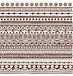 Seamless tribal pattern in the style of a boho vector