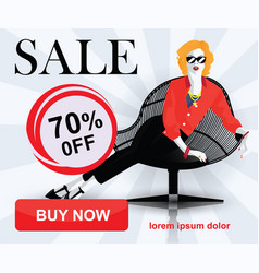 set of fashion sale banners vector image