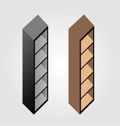 Simple wooden bookshelf design vector image