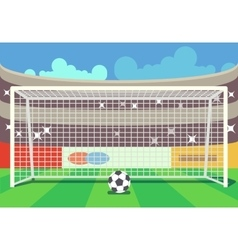 Soccer stadium and ball vector