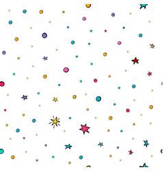 Stars confetti nursery seamless pattern vector