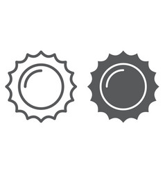 sun line and glyph icon summer and light vector image