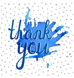 Thank you inscription vector image