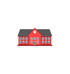 University flat icon school and building vector