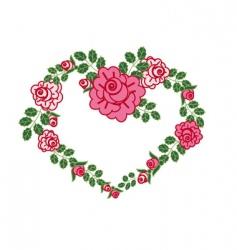 Valentine's flowers vector image