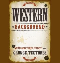 Vintage western background vector