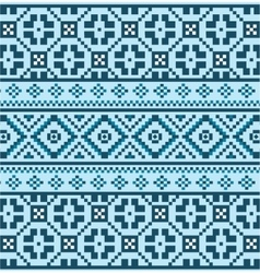 Blue Christmas knitted pattern vector image
