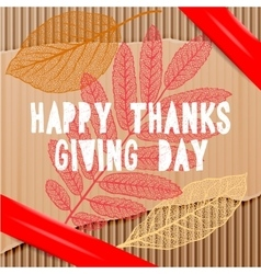 Happy thanksgiving day autumn holiday background vector image