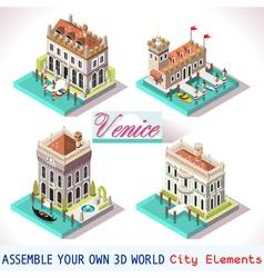 Venice 01 Tiles Isometric vector image vector image