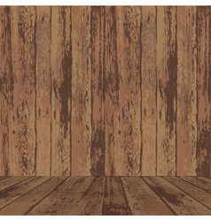 wood wall and floor vector image
